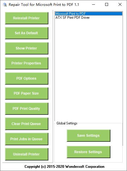 Repair Tool for Microsoft Print to PDF